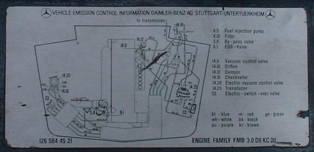 diesel vacuum system adjustments240d Vacuum Diagram #14