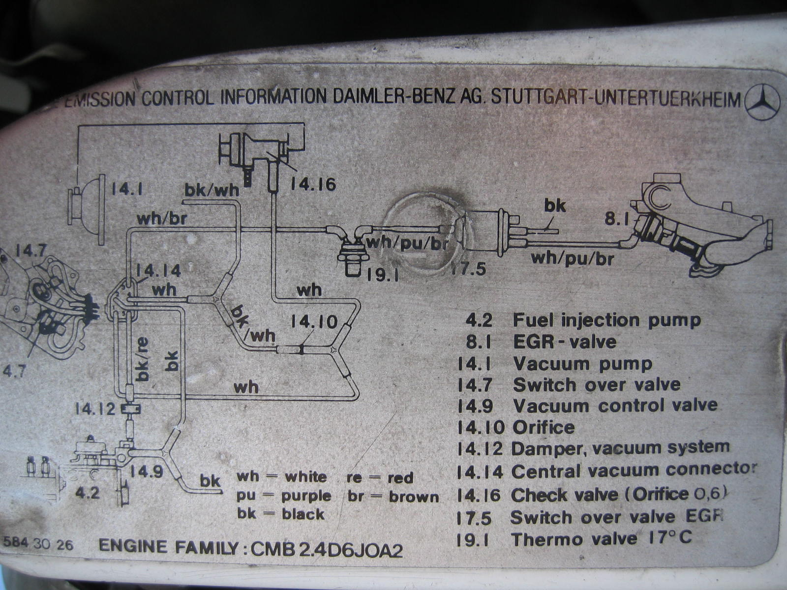 W123 230e Vacuum Diagram Mercedes 1997 Wiring System Diesel Adjustments Rh Mercedesdismantlers Com Ford F 150